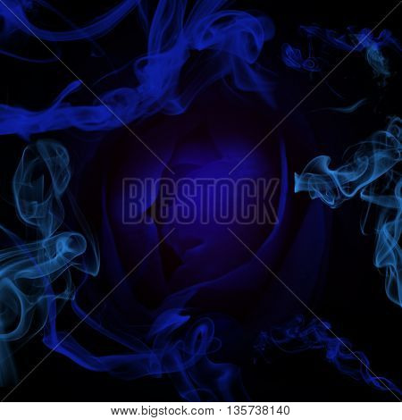 Colored smoke in black background