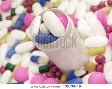 large group of pills