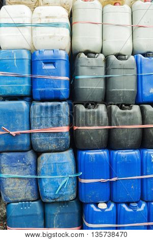 old white blue and black barrels lab background