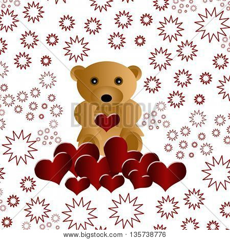 valentines day - Bear with heart