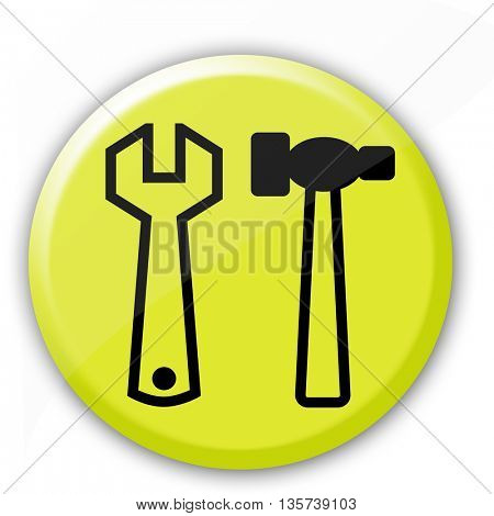 Glossy tool button icon