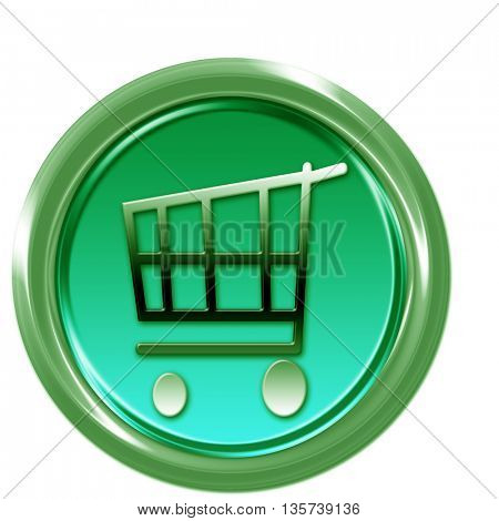 Green button with shopping car