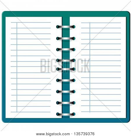 open blank Note book with circular spiral