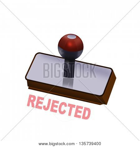 an rejected rubber stamp