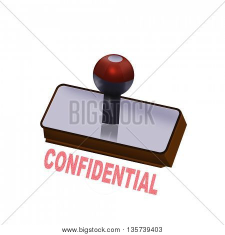 an confidential rubber stamp