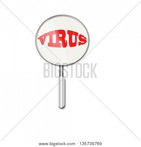 virus under magnifying glass