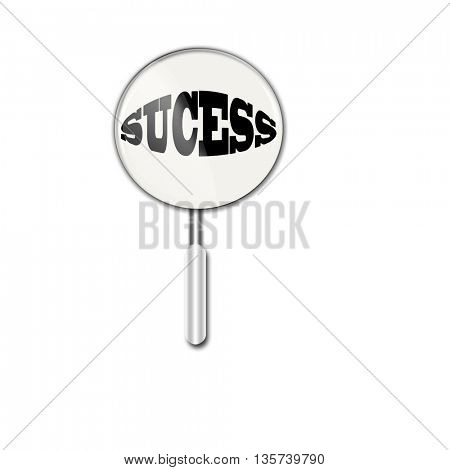 succes under  magnifying glass