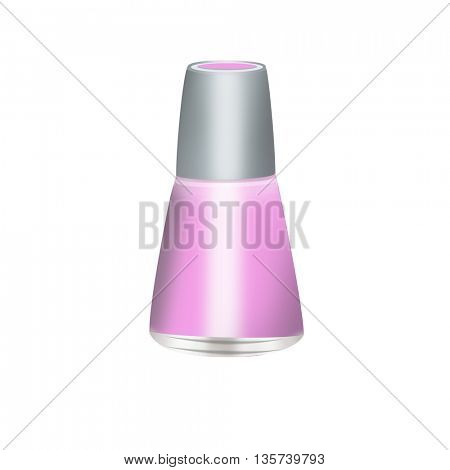 beautiful Nail Polish bottle isolated on white
