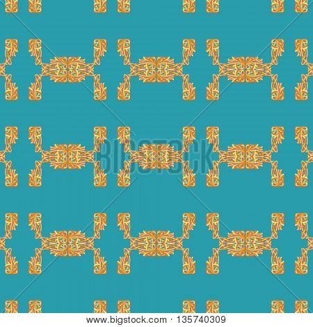 Seamless pattern with vintage curls. Vector illustration