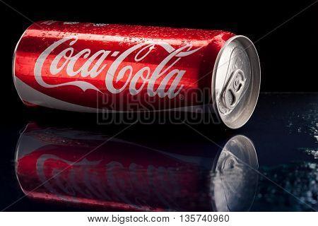 KUALA LUMPUR, MALAYSIA - JUN 1ST, 2016. Coca cola drinks.