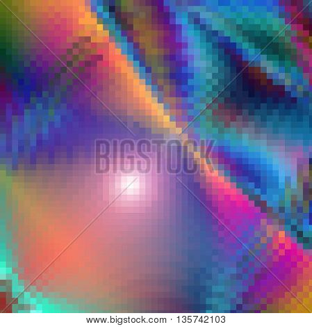 Abstract coloring background of the horizon mosaic gradient with visual twirl,crystallize and wave effects