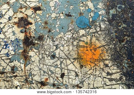 Abstract Textured Background-scratched Metal Close Up