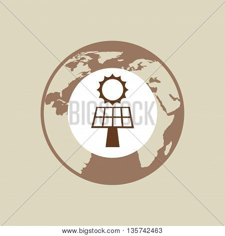 solar energy design, vector illustration eps10 graphic