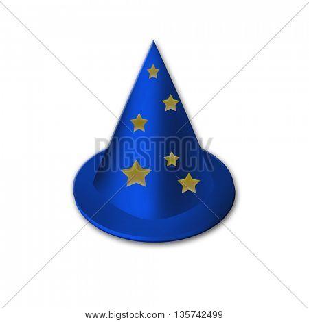 Magic hat and multicolor stars,