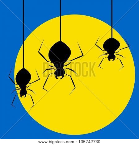 spider and the moon