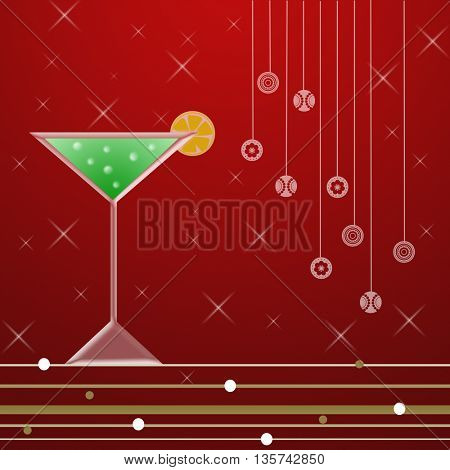 Cocktail for happy  new year