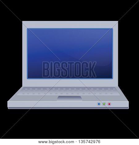 notebook-laptop on black background