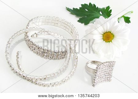 jewelry on white