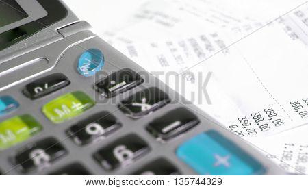 Calculator and bill