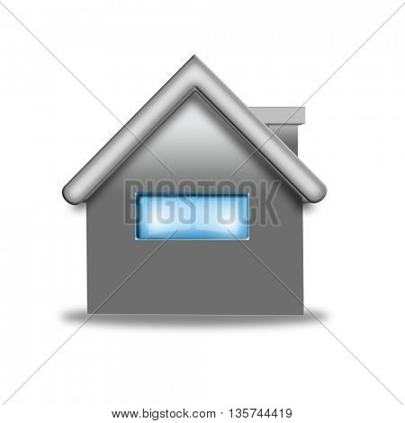 A model house isolated on a white background