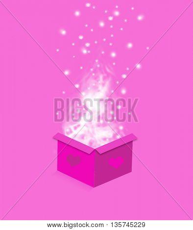holiday present shopping box