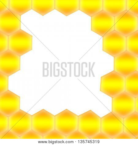 Honeycomb with frame for text - Abstract seamless pattern of honeycomb form. Background for your design.