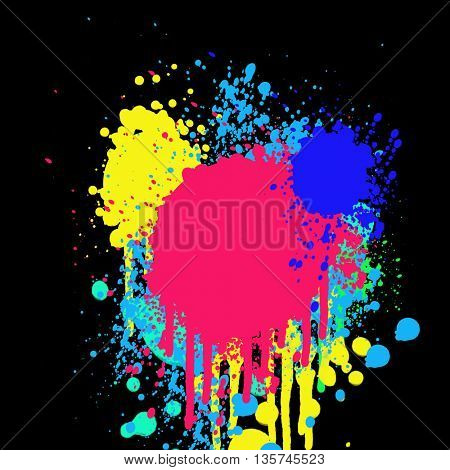 Abstract background with splash of colors and place for text
