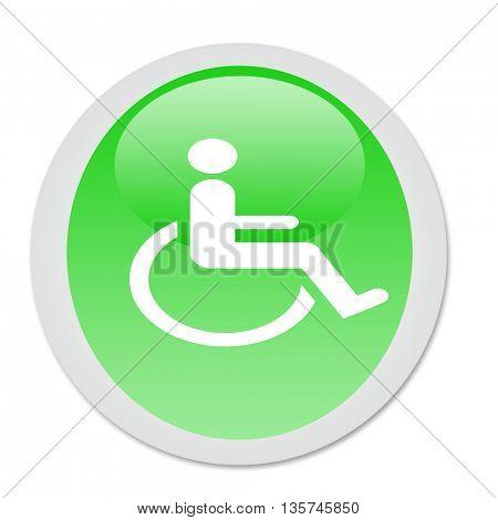Abstract invalid symbol - illustration button