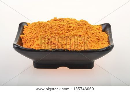 Turmeric (Curcuma, kunyit) isolated on white background.