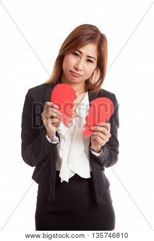 Beautiful Young Asian Woman With Broken Heart
