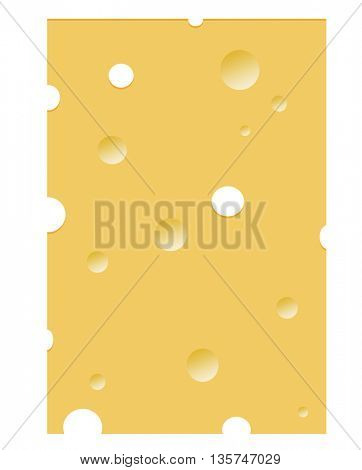 nice illustration with food motive - a cheese background