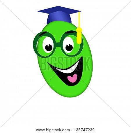 Smiling college worm and