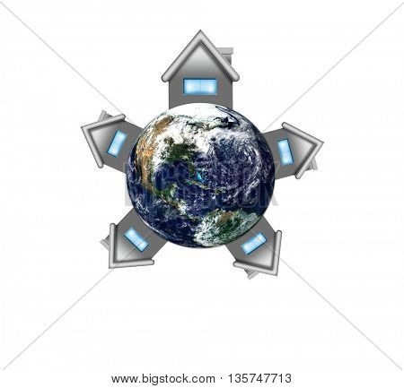Earth Day Concept Green Eco, Earth Elements of this image furnished by NASA