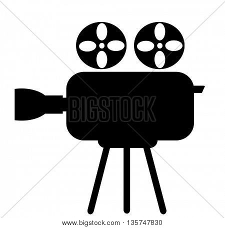Video camera icon on a white background