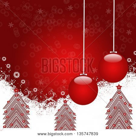 illustration of decorated Christmas tree