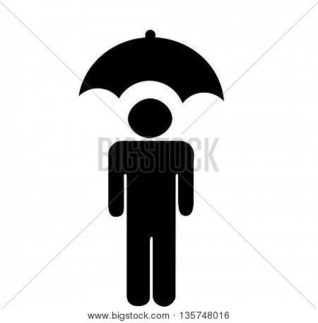 men under the umbrella icon