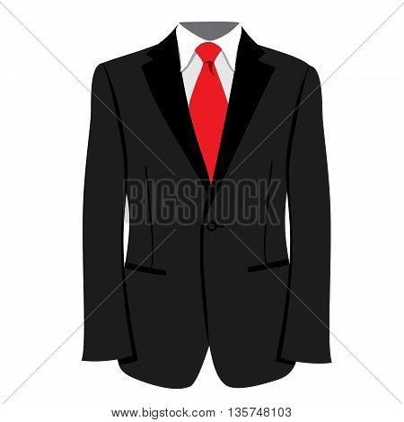 Vector men's tuxedo or jacket. Men tuxedo, jacket vector illustration. Men's fashion