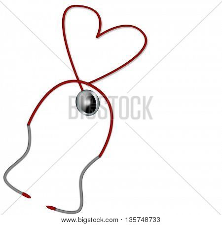 stethoscope in heart shape