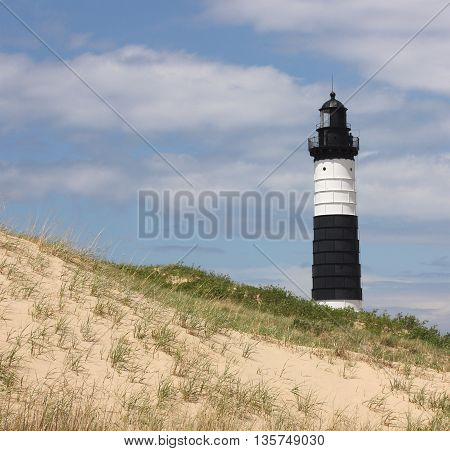 Big Sable Lighthouse at Ludington State Park in Michigan
