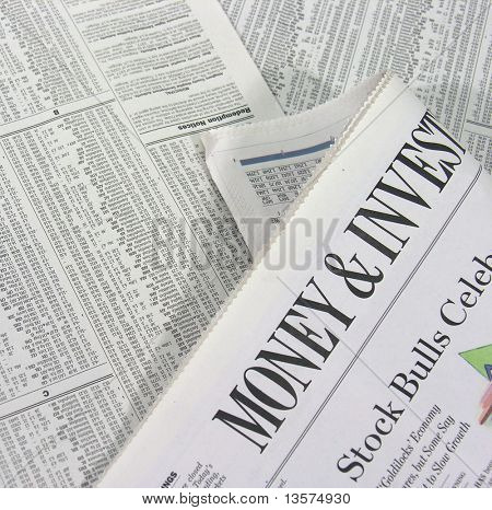 A photo of the Money and Investing section of a newspaper