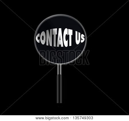 contact us under magnifying glass