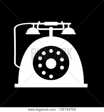 Retro telephone icon isolated