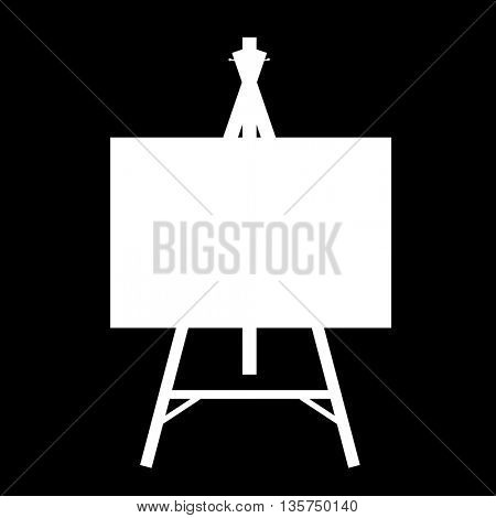 white isolated contour easels silhouettes
