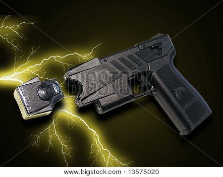 A photo of a taser gun