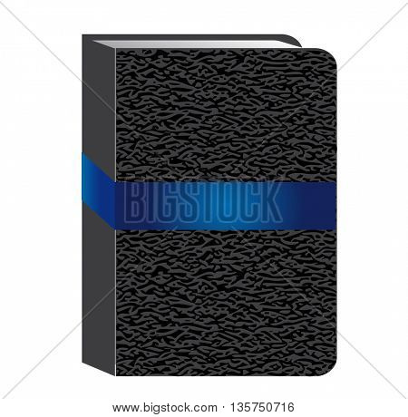 book isolated on white . Clean cover