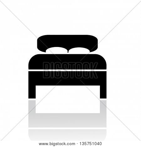 silhouette of a bed