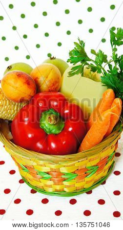 fresh,healthy fruits and vegetables