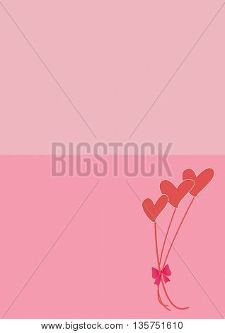 bouquet of hearts ,love background with place for text