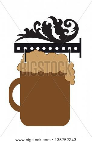 decorative signs for cafe with  and beer icons