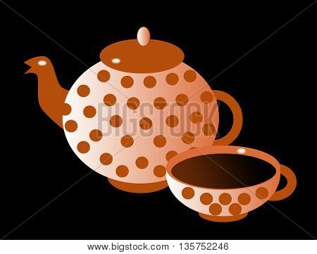 Silhouette of teapot
